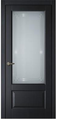 Двери ARIA с белым стеклом