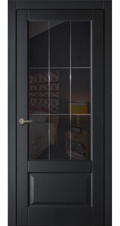 Двери ARIA с черным стеклом