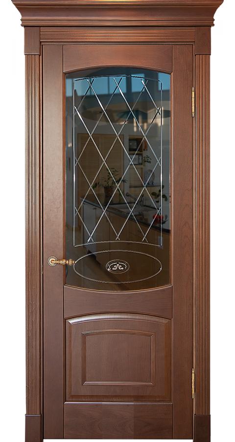 Двери BLIC с черным стеклом