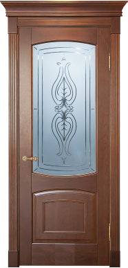 Двери BLIC с белым стеклом