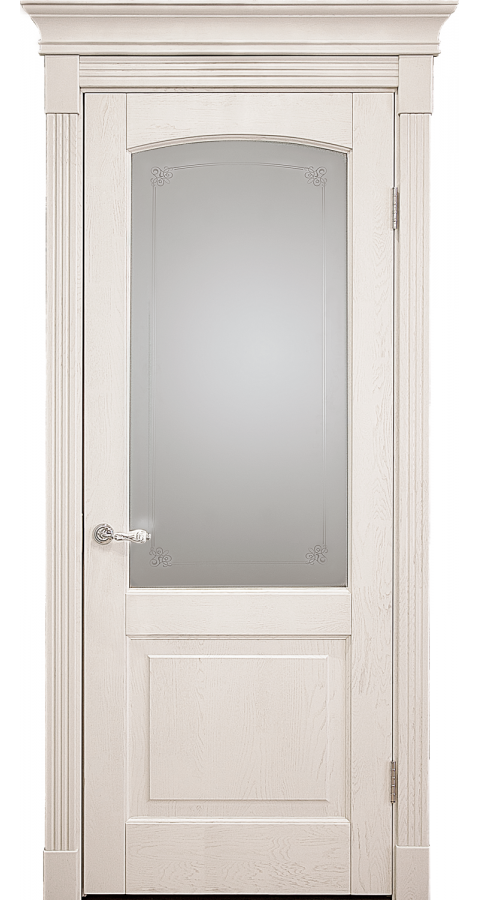 Двери CLASSIC с белым стеклом